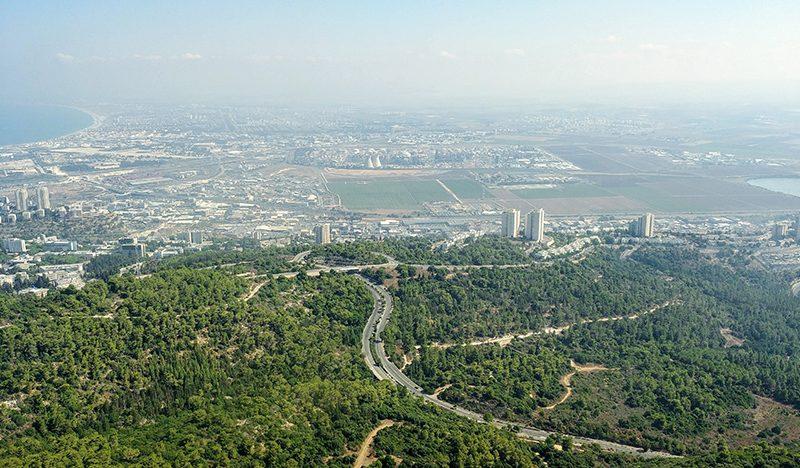 תצפית ממגדל אוניברסיטת חיפה