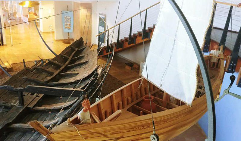 הספינה הטבועה ממעגן מיכאל מוזיאון הכט